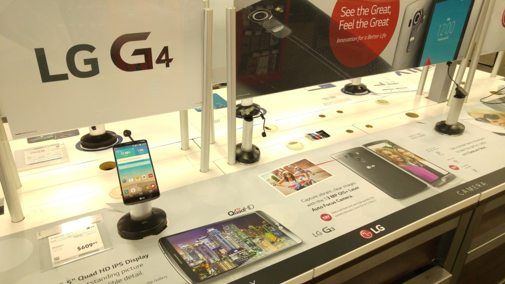 LG G4 Best Buy Display