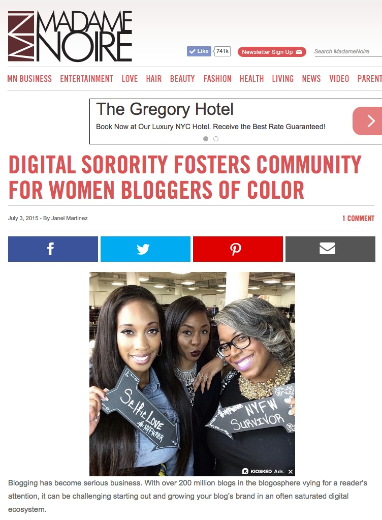 Digital Sorority In The News