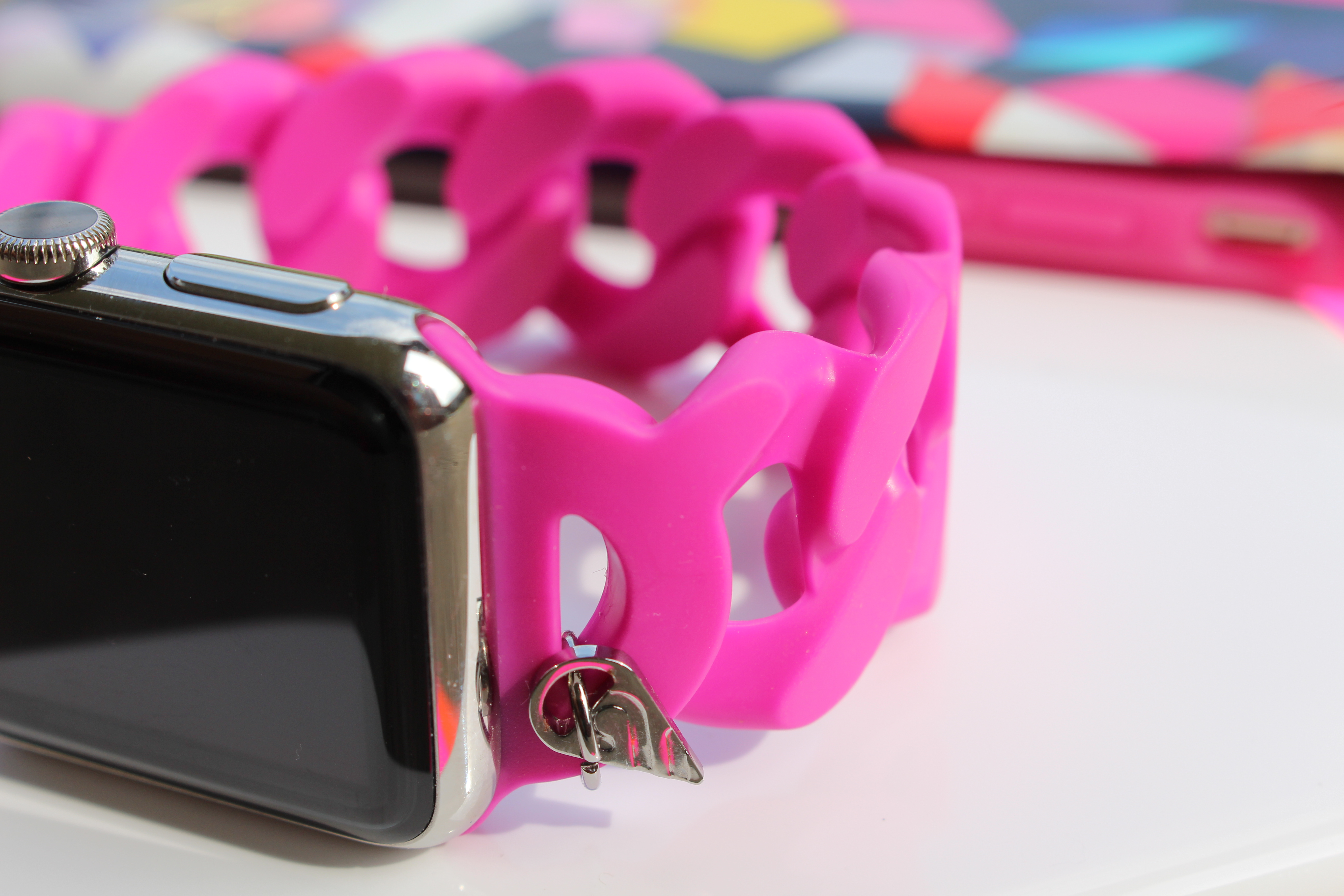 Pink Apple Watch band