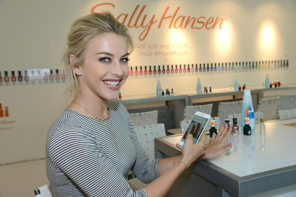 Julianne Hough picks her perfect nail color with the help of the Sally Hansen ManiMatch App. -PHOTO by: Michael Simon/startraksphoto.com