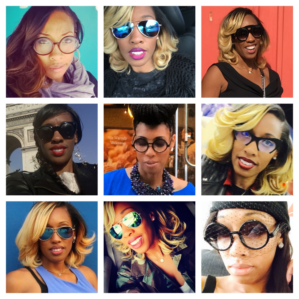 glasses collage
