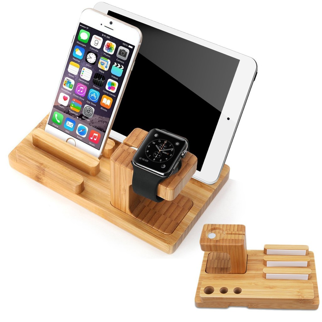 bamboo apple watch stand