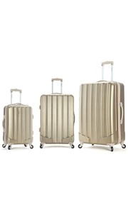 gold luggage