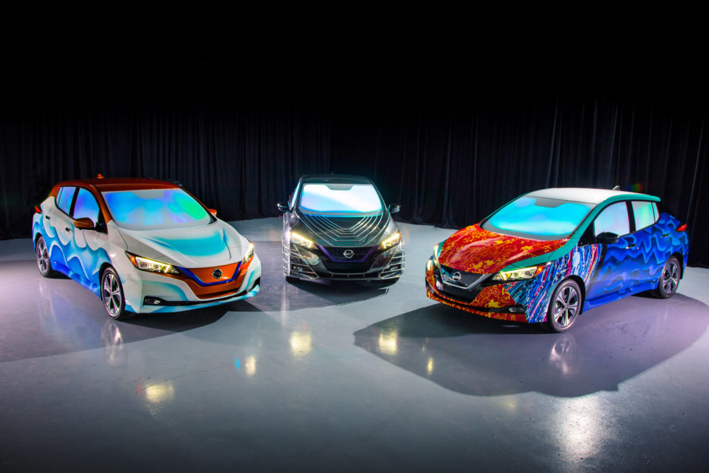 Customized Nissan LEAF show vehicles inspired by Disney's 'A