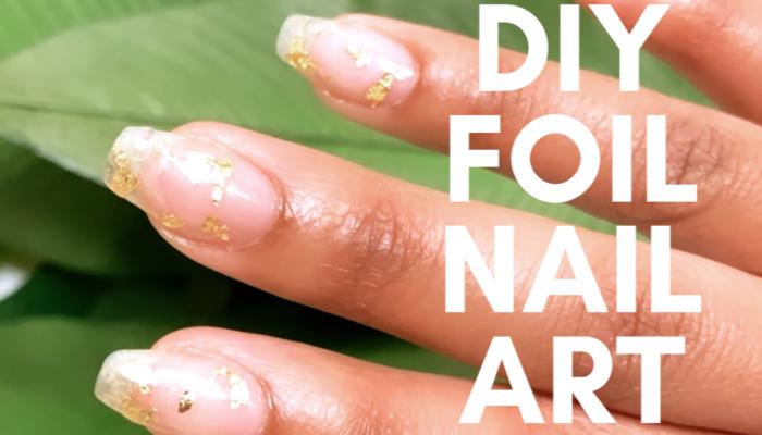 DIY Foil Nail Art